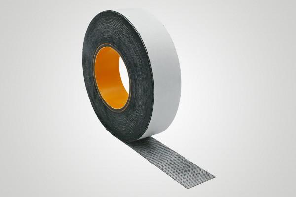 Tecoband 146 Butylband (schwarz) mit Vlies, einseitig selbstklebend
